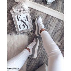 Fehér szürke cipő
