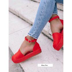 Piros espadrilles