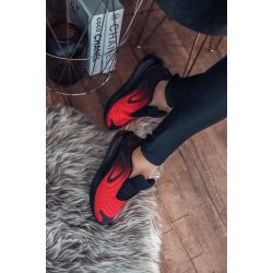 Fekete - piros cipő