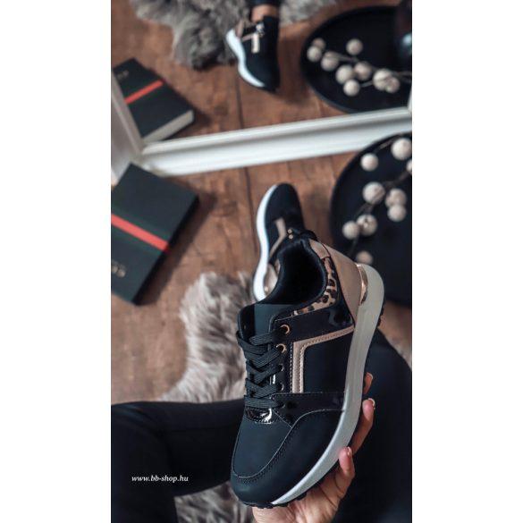 Fekete -arany cipő
