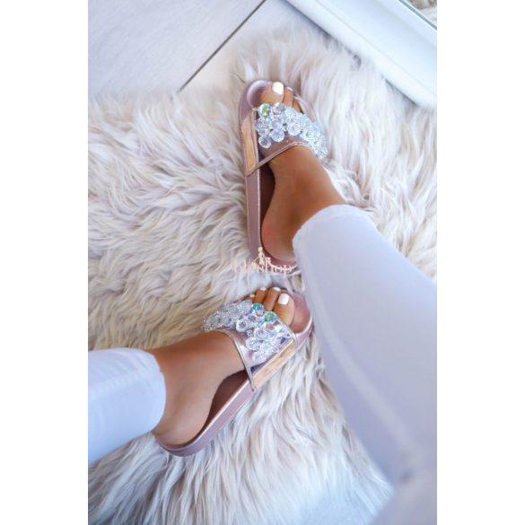 Rosegold papucs