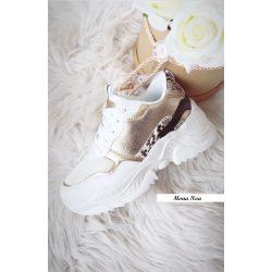 fehér-arany cipő